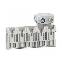 Répartiteur Distri'clic XE avec connecteur - 10 pas - 5 modules