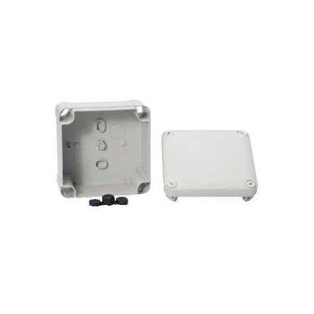 Boîte de dérivation à face lisse Mureva Box - 105 x 105 x 55 mm - Gris