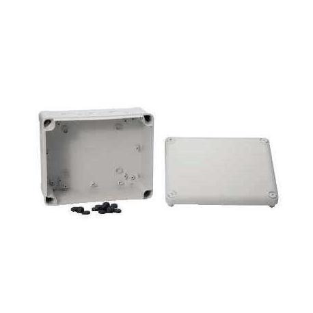 Boîte de dérivation à entrées prédéfoncées Mureva Box - 225 x 175 x 100 mm - Gris