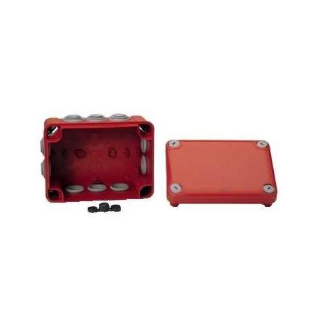 Boîte de dérivation à embouts pour circuits de sécurité Mureva Box - 150 x 105 x 80 mm - Rouge