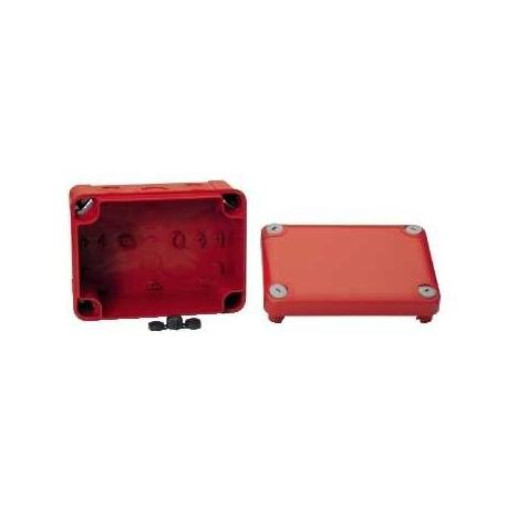 Boîte de dérivation à entrées prédéfoncées pour circuits de sécurité Mureva Box - 150 x 105 x 80 mm - Rouge