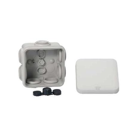 Boîte de dérivation à embouts pour circuits de sécurité Mureva Box - 80 x 80 mm - Gris