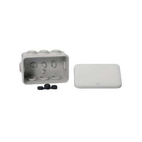 Boîte de dérivation à embouts IP55 Mureva Box - 105 x 65 x 55 mm - Gris