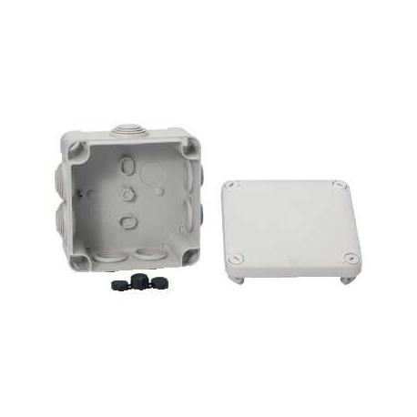 Boîte de dérivation à embouts IP55 Mureva Box - 105 x 105 x 55 mm - Gris