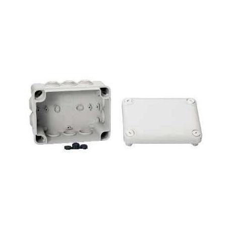 Boîte de dérivation à embouts IP55 Mureva Box - 150 x 105 x 80 mm - Gris