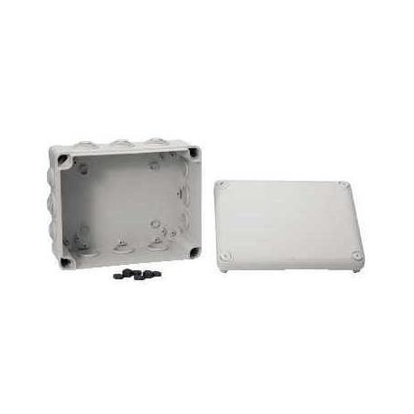 Boîte de dérivation à embouts IP55 Mureva Box - 225 x 175 x 100 mm - Gris