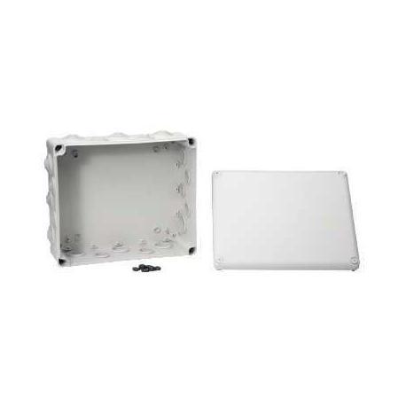 Boîte de dérivation à embouts IP55 Mureva Box - 325 x 275 x 120 mm - Gris