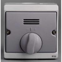Interrupteur temporisé mécanique Mureva - Gris - En saillie - IK07 IP55