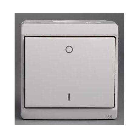 Interrupteur bipolaire Mureva - Blanc - En saillie - IK07 IP55