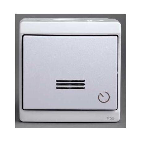 Minuterie électronique Mureva - Blanc - En saillie - IK07 IP55
