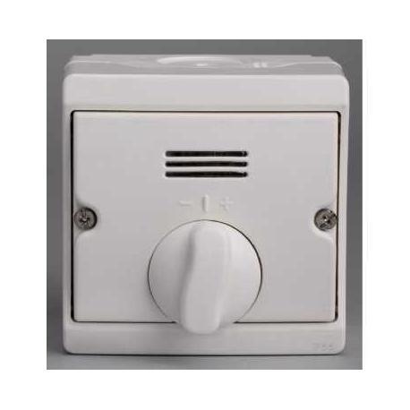 Interrupteur temporisé mécanique Mureva - Blanc - En saillie - IK07 IP55