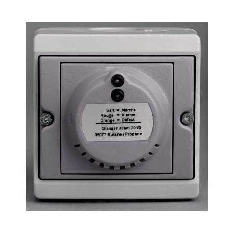 Détecteur de gaz GPL Mureva - Gris - En saillie - IK07 IP55