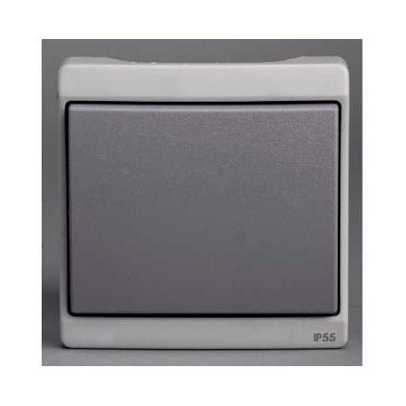 Interrupteur Mureva - Gris - Encastré - IP44 IK08