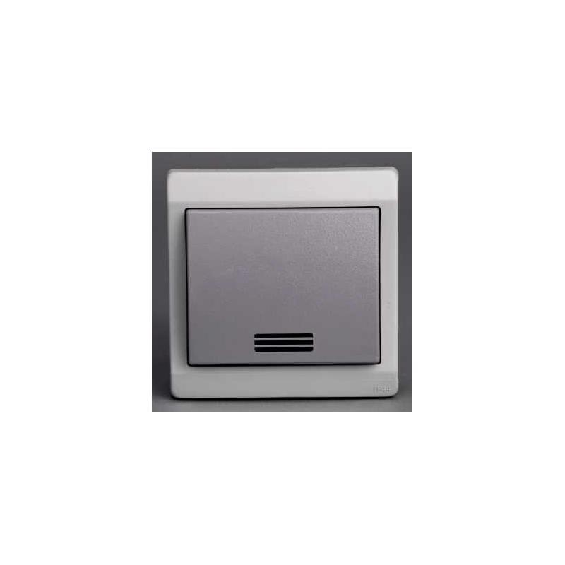 bouton poussoir lumineux mureva gris encastr ip44. Black Bedroom Furniture Sets. Home Design Ideas