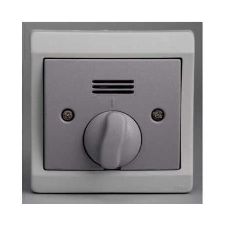 Interrupteur temporisé mécanique Mureva - Gris - Encastré - IP44 IK08
