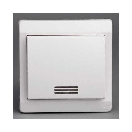 bouton poussoir lumineux mureva blanc encastr ip44. Black Bedroom Furniture Sets. Home Design Ideas