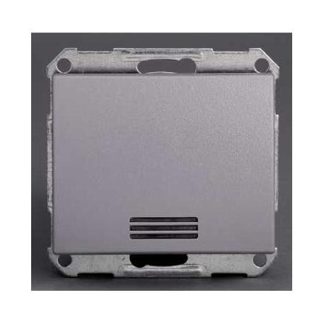 Bouton poussoir lumineux Mureva - Gris - Composable - Encastré - IP44 IK08