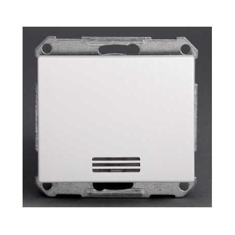 Bouton poussoir lumineux Mureva - Blanc - Composable - Encastré - IP44 IK08