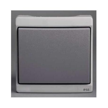 Bouton poussoir Mureva - Gris - Composable - En saillie - IK07 IP55