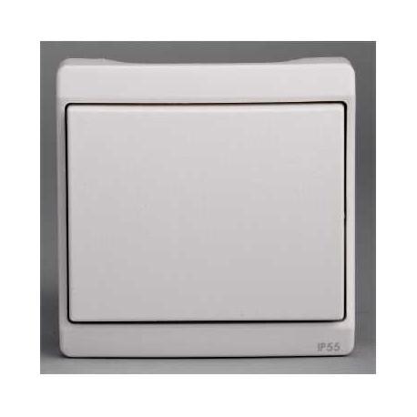 Bouton poussoir Mureva - Blanc - Composable - En saillie - IK07 IP55