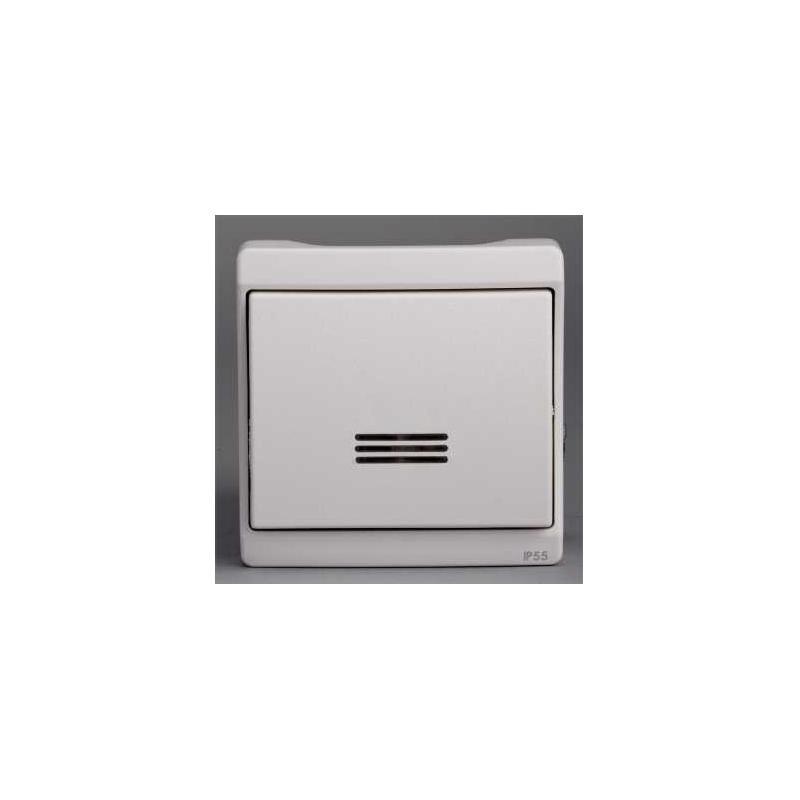 bouton poussoir lumineux mureva blanc composable en. Black Bedroom Furniture Sets. Home Design Ideas