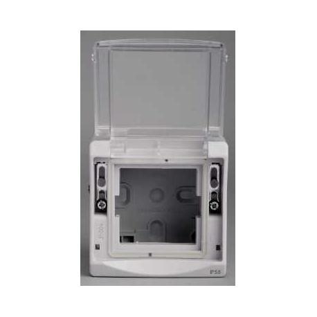 Cadre pour appareillage 45 x 45 Mureva - Gris fumé - Composable - En saillie - IK07 IP55