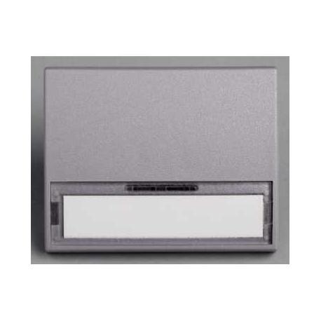 Touche porte étiquette sans lampe Mureva - Gris - En saillie - IK07 IP55
