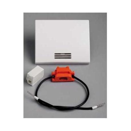 Touche à voyant avec lampe Mureva - Blanc - Encastré - IP44 IK08