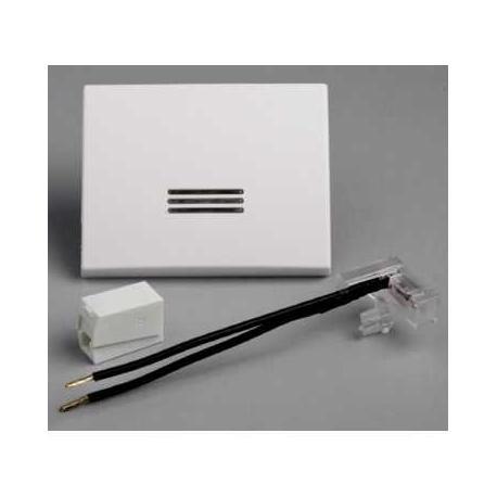 Touche à voyant avec lampe Mureva - Blanc - En saillie - IK07 IP55