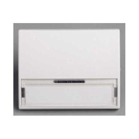 Touche porte étiquette sans lampe Mureva - Blanc - En saillie - IK07 IP55