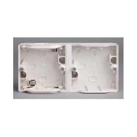 Boîtier double horizontal Mureva - Blanc - Composable