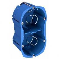 Boîte multi-supports Multifix Plus - 2 postes - Entraxe 57 mm - Diamètre 67 mm - Profondeur 50 mm