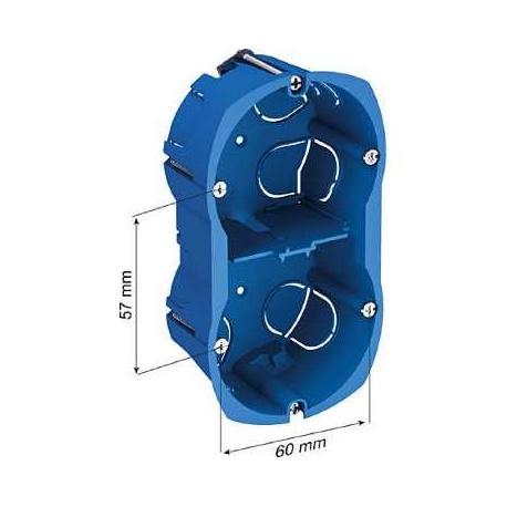 Boîte multi-supports Multifix Plus - 2 postes - Entraxe 57 mm - Diamètre 67 mm - Profondeur 40 mm