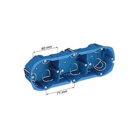 Boîte multi-supports Multifix Plus - 3 postes - Entraxe 71 mm - Diamètre 67 mm - Profondeur 40 mm