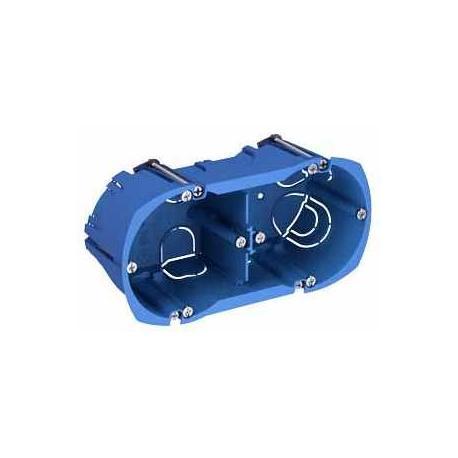 Boîte multi-supports Multifix Plus - 2 postes - Entraxe 71 mm - Diamètre 67 mm - Profondeur 50 mm