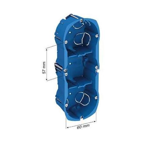 Boîte multi-supports Multifix Plus - 3 postes - Entraxe 57 mm - Diamètre 67 mm - Profondeur 40 mm