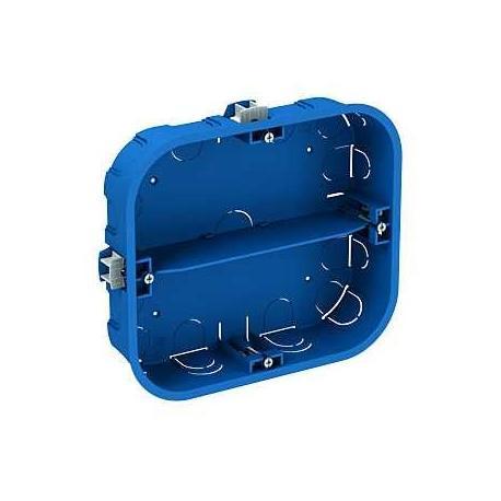 Boîte multi-supports Multifix Plus - 6 postes - Profondeur 40 mm - 2 rangées de 3 appareils