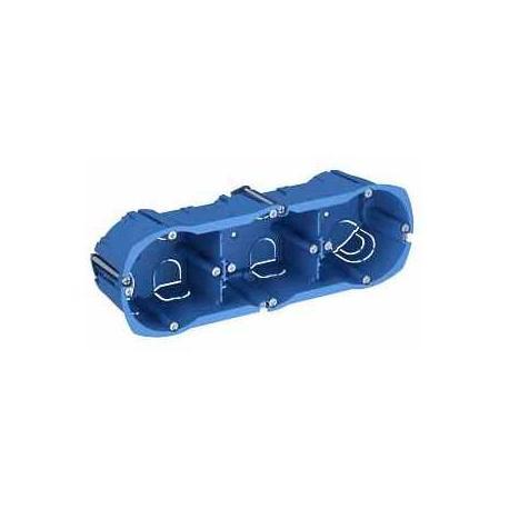 Boîte multi-supports Multifix Plus - 3 postes - Entraxe 71 mm - Diamètre 67 mm - Profondeur 50 mm