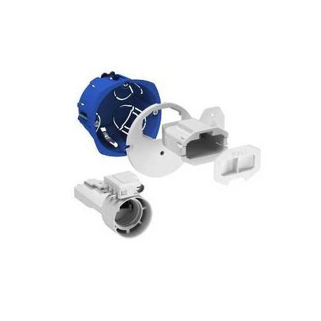 Boîte d'applique avec couvercle affleurant + Connecteur + Douille + Fiche 2P+T
