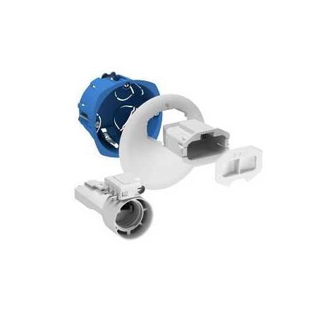 Boîte d'applique avec couvercle non affleurant + Connecteur + Douille + Fiche 2P+T