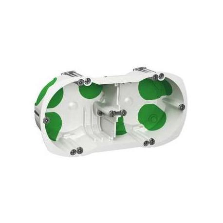 Boîte étanche Multifix Air - 2 postes - Entraxe 71 mm - Diamètre 67 mm - Profondeur 40 mm