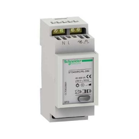 Télévariateur pour lampes à incandescence, halogène et moteurs - 400 W - STD400RC/RL-DIN -