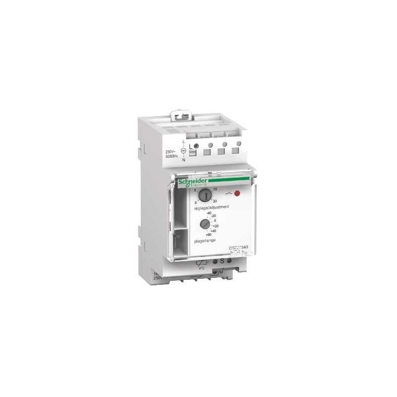 Thermostat modulaire pour chauffage direct th4 plage de r glage 8 26 c schneider - Reglage thermostat chauffage gaz ...