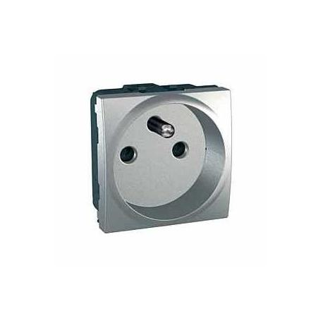 Prise de courant 2P+T Unica - Bornes à vis - Aluminium