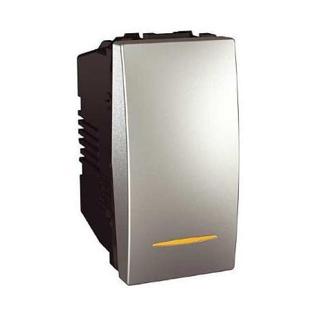 Va-et-vient lumineux (témoin) Unica - Bornes à vis - Aluminium - 1 module