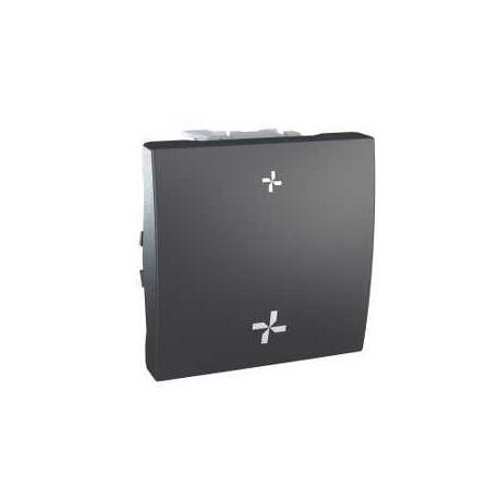 schneider interrupteur vmc unica 2 vitesses sans position arr t graphite. Black Bedroom Furniture Sets. Home Design Ideas