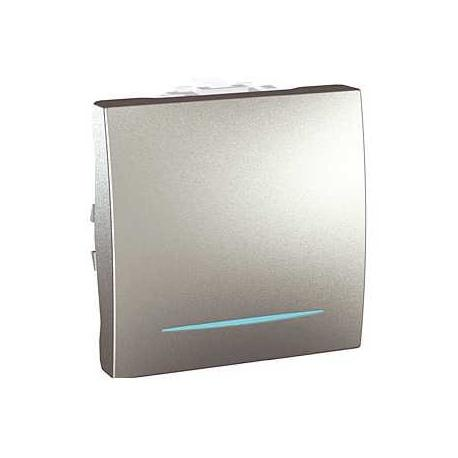 Va-et-vient lumineux (localisation) Unica - Bornes auto - Aluminium - 2 modules
