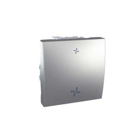 Interrupteur VMC Unica - 2 vitesses sans position arrêt - Aluminium