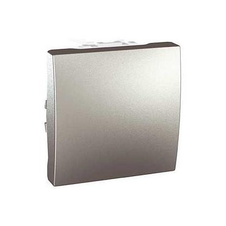 Poussoir à fermeture Unica - Bornes auto - Aluminium - 2 modules