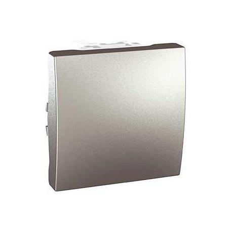 Poussoir à ouverture Unica - Bornes auto - Aluminium - 2 modules